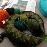 Wild Apple hat in progress