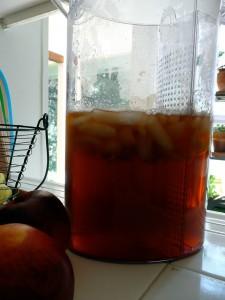 Peaches and tea