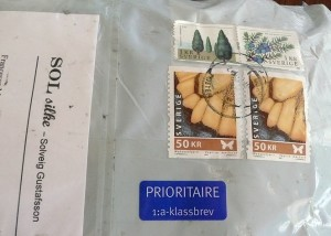 package from Sweden